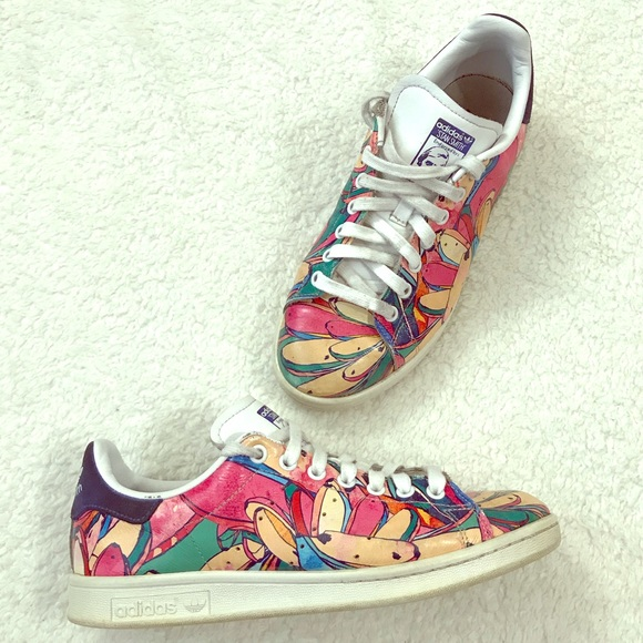 cf6d29a2cfd0f adidas Shoes | Stan Smith Floral Colorful Graffiti Sneaker | Poshmark